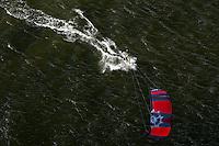A kite surfer on the Bay of Puck (Zatoka Pucka).