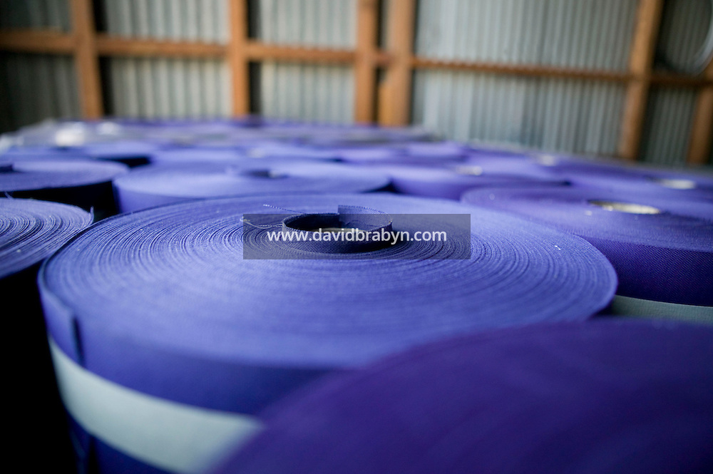 21 June 2005 - Oaks, PA - Rolls of Old Glory Blue fabric that will become the blue part - known as the field - of American flags await processing at the Annin & Co. flag manufacturing plant in Oaks, PA. Photo Credit: David Brabyn.