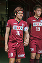 (L to R) Yoshito Okubo, Masahiko Inoha (Vissel), .MAY 26, 2012 - Football : 2012 J.LEAGUE Division 1 match between Vissel Kobe 1-2 Kashima Antlers at Home's Stadium Kobe in Hyogo, Japan. (Photo by Akihiro Sugimoto/AFLO SPORT) [1080]