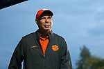 27 October 2016: Clemson head coach Eddie Radwanski. The Duke University Blue Devils hosted the Clemson University Tigers at Koskinen Stadium in Durham, North Carolina in a 2016 NCAA Division I Women's Soccer match. Clemson won the game 1-0.