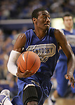 UK guard Jon Wall dribbles the ball to the basket during the second period of the Blue and White scrimmage at Rupp Arena Wednesday night..Photo by Zach Brake | Staff