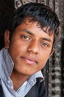 Nepal, Patan, Durbar Square.  Young Nepali Man, Age 16.