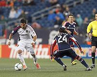 Real Salt Lake midfielder Javier Morales (11) on the attack.