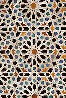 Fez, Morocco - Geometric Tile Work, Bou Inania Medersa.  14th. Century A.D.