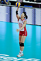 Erika Araki (JPN), .AUGUST 25, 2011 - Volleyball : .FIVB Women's World Grand Prix 2011 match between Brazil 3-0 Japan in Macau, Hong Kong. (Photo by Ryu Makino/AFLO).