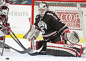 Tyler Steel (Brown - 35) - The visiting Brown University Bears defeated the Harvard University Crimson 2-0 on Saturday, February 22, 2014 at the Bright-Landry Hockey Center in Cambridge, Massachusetts.