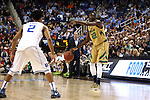 13 March 2015: Notre Dame's Jerian Grant (22) and Quinn Cook (2). The Notre Dame Fighting Irish played the Duke University Blue Devils in an NCAA Division I Men's basketball game at the Greensboro Coliseum in Greensboro, North Carolina in the ACC Men's Basketball Tournament semifinal game. Notre Dame won the game 74-64.
