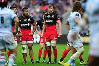 George Kruis of Saracens looks on during a break in play. European Rugby Champions Cup Final, between Saracens and Racing 92 on May 14, 2016 at the Grand Stade de Lyon in Lyon, France. Photo by: Patrick Khachfe / Onside Images