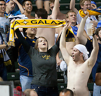 LA Galaxy fans celebrating a goal during the second half of the game between LA Galaxy and the D.C. United at the Home Depot Center in Carson, CA, on September 18, 2010. LA Galaxy 2, D.C. United 1.