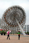 Asia, China; Shanghai. Parasols of Shanghai.