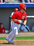 12 March 2012: Washington Nationals infielder Danny Espinosa in action during a Spring Training game against the St. Louis Cardinals at Space Coast Stadium in Viera, Florida. The Nationals defeated the Cardinals 8-4 in Grapefruit League play. Mandatory Credit: Ed Wolfstein Photo