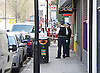 77 Social Club in Dalston Lane, Hackney E8 the scene of a stabbing in Hackney in the early hours of this morning. <br /> 6th April 2015 <br /> <br /> Police were called at 04:24hrs on Monday, 6 April, to reports of an injured man in Lower Clapton Road.<br /> <br /> On arrival officers found a 45-year-old man who had been slashed across the neck.<br /> <br /> Officers believe he had been attacked in the street near to the 77 Social Club in Dalston Lane, E8.<br /> <br /> The man was taken to an east London hospital where his condition is serious, but not life-threatening.<br /> <br /> Officers from Hackney CID are investigating. There has been no arrest at this stage. Enquiries continue.<br /> <br /> Road closures remain in place at Dalston Lane and Lower Clapton Road.<br /> <br /> Photograph by Elliott Franks <br /> Image licensed to Elliott Franks Photography Services