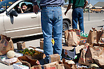 Citizens of Crystal City, Texas line up to receive food from San Antonio Food Bank. The San Antonio Food Bank makes monthly deliveries to Crystal City in Zavala County, Texas, which has the nation's highest rate of food insecurity. October 2, 2012. Copyright Lance Rosenfield / Prime