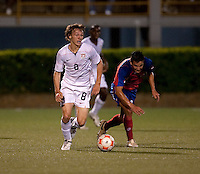 Jared Jeffrey dribbles the ball. Costa Rica defeated the US Under 20 Men's National team 3-0 during the 2009 CONCACAF U-20 Championship game at Marvin Lee Stadium Trinidad & Tobago in Macoya, Trinidad on March 17th, 2009.