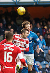 Blair Adams and Joe Garner have a sickening collision of heads and both have to go off for medical attention