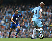 Leicester City's Shinji Okazaki<br /> <br /> Photographer Stephen White/CameraSport<br /> <br /> The Premier League - Manchester City v Leicester City - Saturday 13th May 2017 - Etihad Stadium - Manchester<br /> <br /> World Copyright &copy; 2017 CameraSport. All rights reserved. 43 Linden Ave. Countesthorpe. Leicester. England. LE8 5PG - Tel: +44 (0) 116 277 4147 - admin@camerasport.com - www.camerasport.com