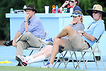 26 August 2012: UNC head coach Anson Dorrance (left) with assistants Cindy Parlow Cone and Chris Ducar (right). The University of North Carolina Tar Heels defeated the University of Montreal Caribins 1-0 in overtime at Fetzer Field in Chapel Hill, North Carolina in an international women's collegiate friendly game.
