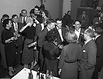 Pittsburgh PA:  Brady Stewart Studio annual Christmas party for customers - 1952.  Employees of local advertising agencies and art studios along with corporate clients attended.