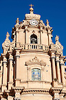 Baroque cathedral of St George designed by Rosario Gagliardi , Plaza Duomo, Ragusa Ibla, Sicily.