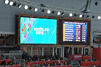 OLYMPICS: SOCHI: Adler Arena, 11-02-2014, 500m Ladies, results first 500m, ©foto Martin de Jong
