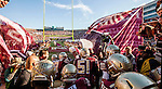 Commissioned by the Associated Press<br /> <br /> The Florida State Seminoles take the field against the Florida Gators in Tallahassee, November 29, 2014.