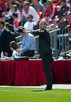 17 September 2011: Colorado Rapids head coach Gary Smith shouts out instructions during an MLS game between the Colorado Rapids and the Toronto FC at BMO Field in Toronto, Ontario Canada..Toronto FC won 2-1.