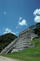 The Temple of the Inscriptions at the Maya ruins of Palenque, Chiapas, Mexico