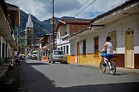 Streets of the town of Jardin in Antioquia August 1, 2012. Photo by Eduardo Munoz Alvarez / VIEW.