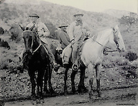 Theodore Roosevelt, 1858-1919, President of the United States, in Colorado on one of his expeditions, photograph, courtesy of the Colorado Historical Society, in the Anasazi Heritage Center, an archaeological museum of Native American pueblo and hunter-gatherer cultures, Dolores, Colorado, USA. Picture by Manuel Cohen