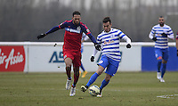 Eduardo Vargas of QPR and Matthew Watson of Chicago Fire