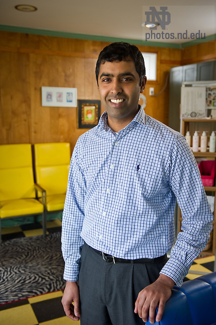 MBA and Law Student Deepak Madala...For MCOB Business Magazine..Photo by Matt Cashore/University of Notre Dame