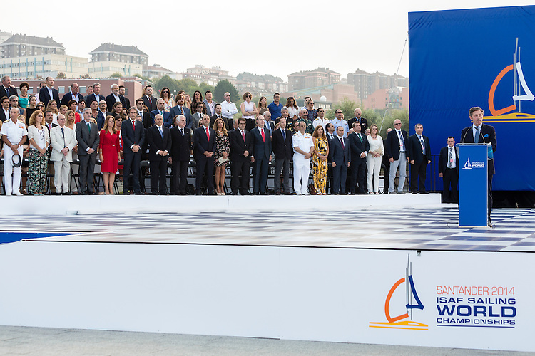 20140911, Santander, Spain: 2014 ISAF SAILING WORLD CHAMPIONSHIPS - More than 1,250 sailors in over 900 boats from 84 nations will compete at the Santander 2014 ISAF Sailing World Championships from 8-21 September 2014. The best sailing talent will be on show and as well as world titles being awarded across ten events 50% of Rio 2016 Olympic Sailing Competition places will be won based on results in Santander.. Photo: Mick Anderson/SAILINGPIX.DK. Keywords: Sailing, water, sport, ocean, boats, olympic, dinghy, dinghies, crew, team, sail. Filename: _49A0818.CR2.