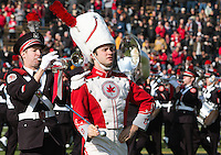 The Ohio State Band Drum Major Kyle West. The Ohio State Buckeyes defeated the Purdue Boilermakers 56-0 at Ross-Ade Stadium, West Lafayette, Indiana on November2, 2013.