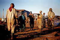 Workers at the Gaddani ship-breaking yard. The majority of workers are Pashtu.