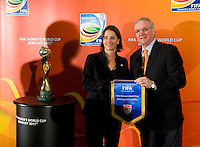 Dan Flynn, Tatjana Haenni. Various speakers took the stage at the FIFA Women's World Cup 2011 promotional tour at the Westin Grand in Washington, DC..