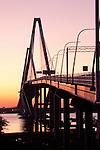 Arthur Ravenel Jr Bridge over the Cooper River in Charleston South Carolina at night