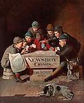 Newsboy Cigars advertisement with newspaper boys playing cards.