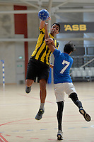 Action from the NZSS Handball Championships at ASB Sports Centre, Kilbirnie, Wellington, New Zealand on Sunday 20 September 2014.<br /> Photo by Masanori Udagawa.<br /> www.photowellington.photoshelter.com