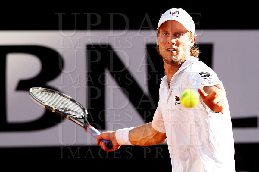 L'italiano Andreas Seppi in azione nel corso degli Internazionali d'Italia di tennis a Roma, 13 Maggio 2013..Italy's Andreas Seppi in action during the Italian Open Tennis tournament ATP Master 1000 in Rome, 13 May 2013.UPDATE IMAGES PRESS/Riccardo De Luca..