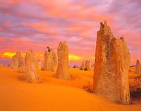 Sunset in the Pinnacles Desert, Nambung National Park, Western Australia