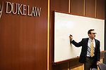 February 23, 2015. Durham, North Carolina.<br />  Professor Joseph Blocher lectures his Property class.<br />  The Duke University School of Law is considered one of the best law schools in the country.