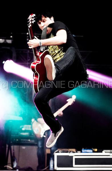 Belgian rock band Zornik in concert at the third day of the Suikerrock festival in Tienen (Belgium, 30/07/2011)