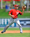 28 February 2011: Washington Nationals' infielder Danny Espinosa warms up prior to a Spring Training game against the New York Mets at Digital Domain Park in Port St. Lucie, Florida. The Nationals defeated the Mets 9-3 in Grapefruit League action. Mandatory Credit: Ed Wolfstein Photo
