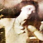distressed image of a woman with head tilted back