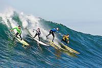 "Evan Slater, Grant Washburn, Tyler Smith, Grant ""Twiggy"" Baker.   Mavericks Surf Contest 2008.  Half Moon Bay, Ca.  January 12, 2008."