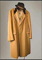 Arthur Daley's famous coat and hat for sale.