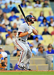 22 July 2011: Washington Nationals infielder Danny Espinosa in action against the Los Angeles Dodgers at Dodger Stadium in Los Angeles, California. The Nationals defeated the Dodgers 7-2 in their first meeting of the 2011 season. Mandatory Credit: Ed Wolfstein Photo