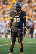 Towson, MD - September 9, 2016: Towson Tigers defensive end Kanyia Anderson (99) in actionduring game between Towson and St. Francis at Minnegan Field at Johnny Unitas Stadium  in Towson, MD. September 9, 2016.  (Photo by Elliott Brown/Media Images International)