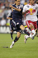 New England Revolution midfielder Marko Perovic (29) scores the first goal of the game. The New England Revolution defeated the New York Red Bulls, 3-2, at Gillette Stadium on May 29, 2010.