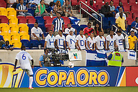 Honduras fans. Honduras defeated Haiti 2-0 during a CONCACAF Gold Cup group B match at Red Bull Arena in Harrison, NJ, on July 8, 2013.